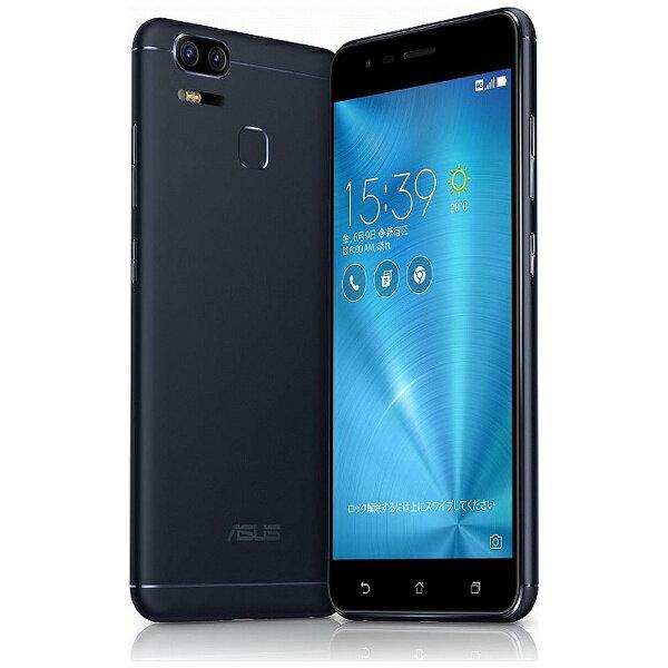【送料無料】 ASUS エイスース Zenfone Zoom S(ZE553KL)ネイビーブラック「ZE553KL-BK64S4」 ...
