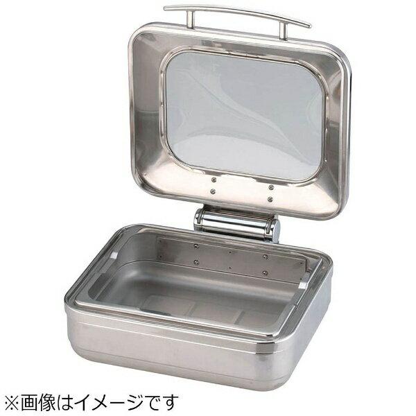 KINGO 【業務用】 ロイヤル角チェーフィング フードパン無 ガラスカバー式 1/2サイズ <NKV4801>:ビックカメラ