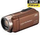 【送料無料】 JVC 【アウトレット品】SD対応 32GBメモリー内蔵フルハイビジョンビデオカメラ(ライトブラウン) GZ-F200-T【生産完了品】 GZF200T 【kk9n0d18p】
