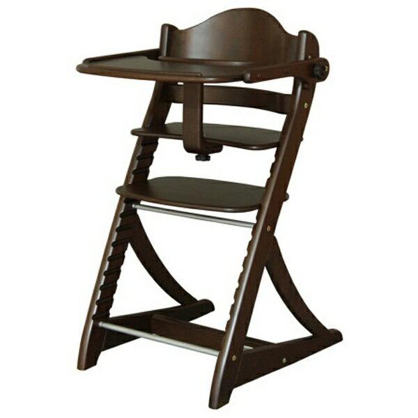 【送料無料】 エンドー すくすくスリムフィットチェア テーブル&ガード付 9503 ダークブラウン