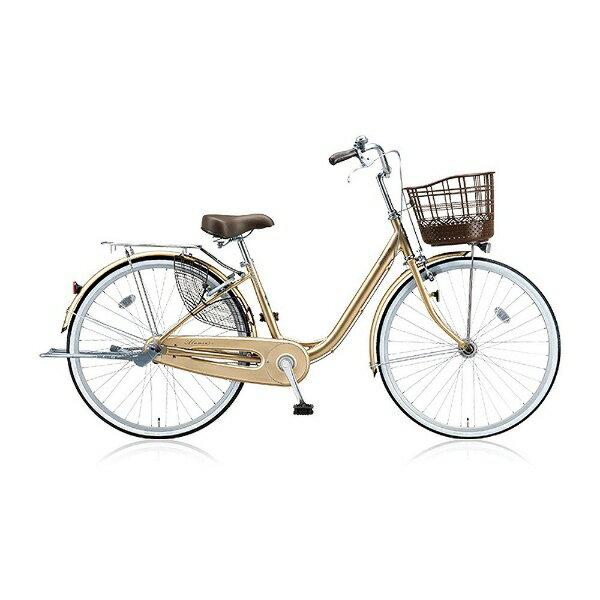 ブリヂストン 24型 自転車 アルミーユ(M.Xプレシャスベージュ/シングル) AU40T【2017年/点灯虫モデル】【組立商品につき返品不可】 【代金引換配送不可】:ビックカメラ