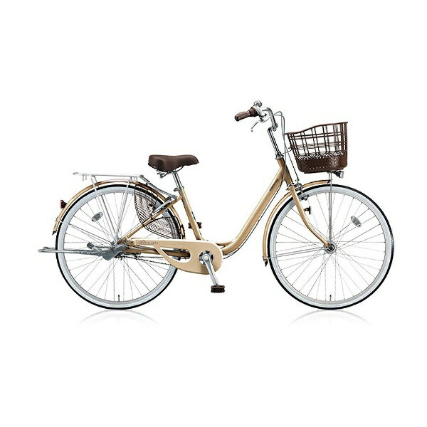ブリヂストン 26型 自転車 アルミーユ ベルト(M.Xプレシャスベージュ/3段変速) AU63BT【2017年/点灯虫・ベルトドライブモデル】【組立商品につき返品不可】 【代金引換配送不可】:ビックカメラ