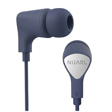 NUARL [マイク付]カナル型イヤホン(ネイビー) NE1000NV