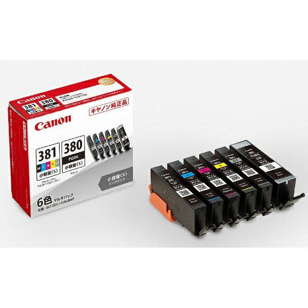 キヤノンCANONBCI-381s+380s/6MP純正プリンターインクPIXUS(ピクサス)6色マルチパック BCI381S3
