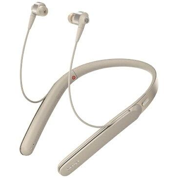 【送料無料】 ソニー SONY 【ハイレゾ音源対応】Bluetooth対応 [ノイズキャンセリング機能搭載] カナル型イヤホン(シャンパンゴールド) WI-1000X NM[WI1000XNM]