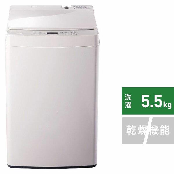 ツインバード TWINBIRD 全自動洗濯機 ホワイト WM-EC55W [洗濯5.5kg /乾燥機能無 /上開き][一人暮らし 新生活 新品 小型 洗濯機]