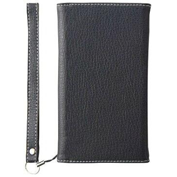 トリニティ iPhone X用 BillFold クラリーノ 手帳型 フリップノートカードケース シュリンク ブラック TRIP178BFTTSBK