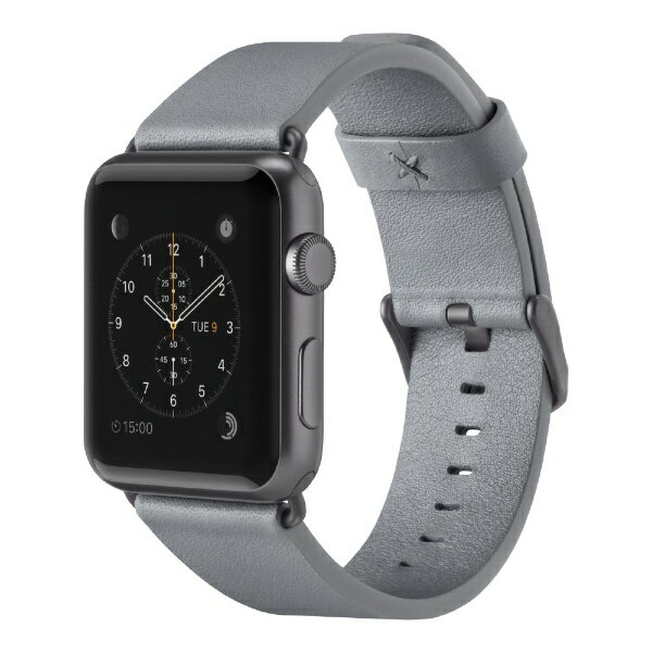 【】 BELKIN F8W731btC02 Classic Leather Band for Apple Watch 38mm F8W731BTC02 グレイ F8W731BTC02[F8W731BTC02]