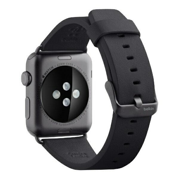 【】 BELKIN F8W732btC00 Classic Leather Band for Apple Watch 42mm F8W732BTC00 ブラック F8W732BTC00[F8W732BTC00]