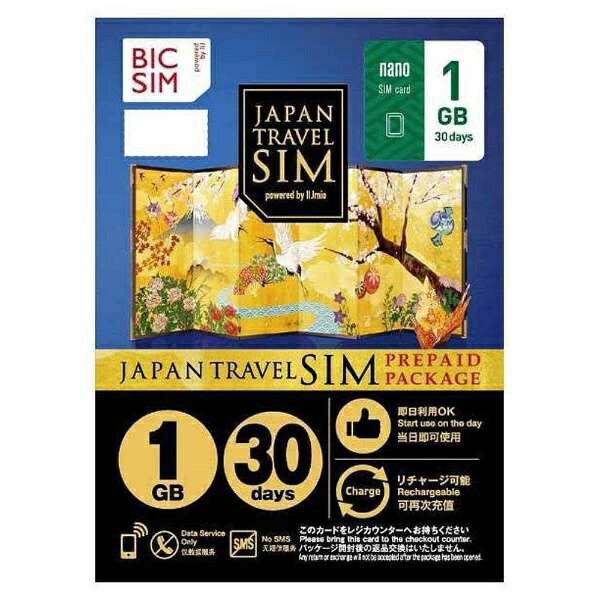 IIJ ナノSIM 「BIC SIMジャパントラベルパッケージ 1GB 」 IMB230【point10】