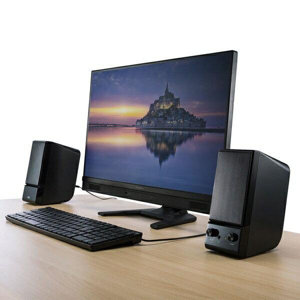 サンワサプライ PCスピーカー[φ3.5mm ミニプラグ]AC電源タイプ(ブラック) MM-SPL14BK