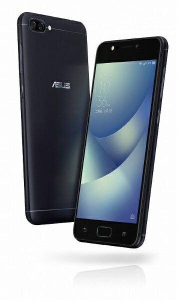 【送料無料】 ASUS ZenFone 4 Maxネイビーブラック「ZC520KLBK32S3」 Snapdragon 430 5.2型・メ...