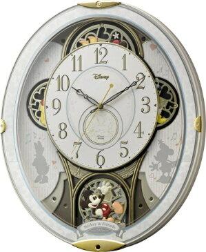 【送料無料】 リズム時計 【2000円OFFクーポン 8/7 16:00〜8/9 01:59】電波からくり時計 「ミッキー&フレンズM509」 4MN509MC03