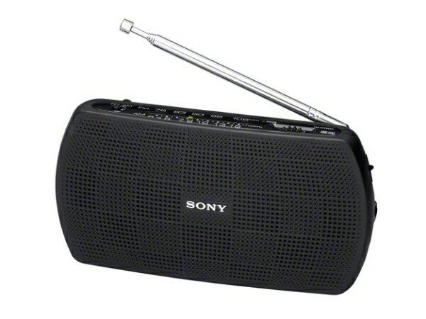 ソニーSONY携帯ラジオブラックSRF-19BC AM/FM/ワイドFM対応  SRF19BC
