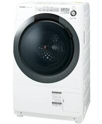【2018年2月中旬】【標準設置費込み】シャープ[左開き]ドラム式洗濯乾燥機(洗濯7.0kg/乾燥3.5kg)ES-S7C-WLホワイト系【洗濯槽自動お掃除・ヒーター乾燥機能付】