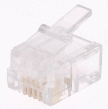 オーム電機 OHM ELECTRIC 6極4芯用モジュラープラグ(有線・2個入) TP-1920 TP-1920[TP1920]