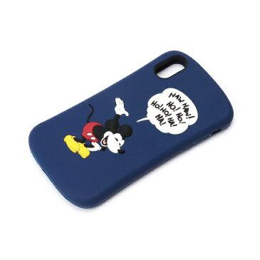 PGA iPhoneX用 シリコンケース ミッキーマウス/ネイビー PG-DCS376MKY
