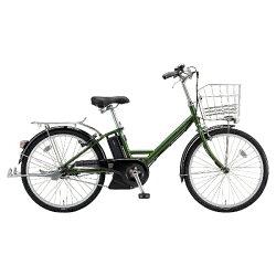 【送料無料】ブリヂストン24型電動アシスト自転車アシスタユニプレミア(P.Xトラッドオリーブ/内装3段変速)A4PC38【2018年モデル】【配送】