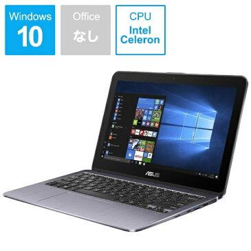 【送料無料】 ASUS エイスース Vivo Book Flip12 11.6型タッチ対応ノートPC[Win10 Home・Celeron・eMMC 64GB・メモリ 4GB] TP203NA-GREY スターグレー
