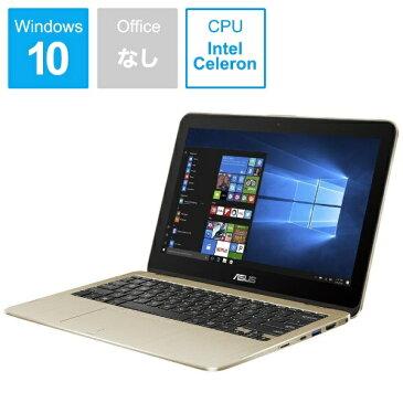 【送料無料】 ASUS エイスース Vivo Book Flip12 11.6型タッチ対応ノートPC[Win10 Home・Celeron・eMMC 64GB・メモリ 4GB] TP203NA-GOLD シマリングゴールド