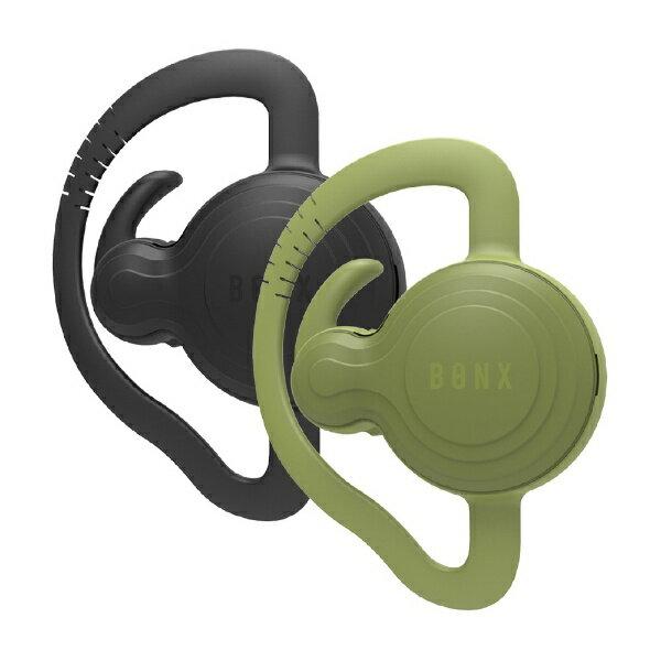 【送料無料】 BONX ワイヤレスヘッドセット 片耳イヤホンタイプ[Bluetooth]エクストリームコミュニケーションギア BONX Grip 2個セット BX2-MTBKGN1 ブラックグリーンセット