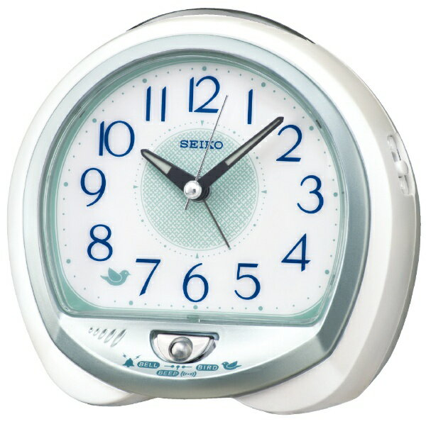 セイコー SEIKO セイコー目覚まし時計 QM748M 白パール