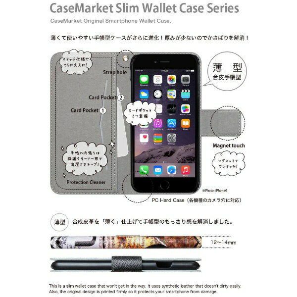 CaseMarket CaseMarket iPod-touch5 スリム手帳型ケース 屏風 和柄 昇り金龍 菊花紋章 風雲 iPod-touch5-BCM2S2130-78
