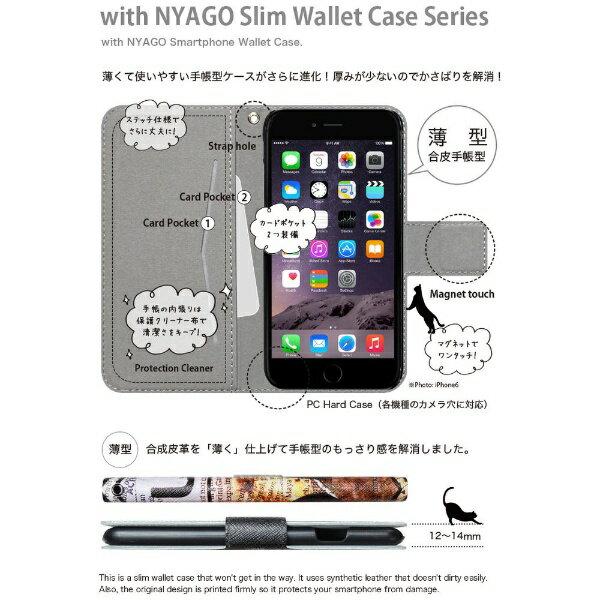 CaseMarket NYAGO iPod-touch5 スリム手帳型ケース NYAGO ノート キュート 肉球をペロペロするにゃ~。 サマー フラワー だにゃ~。 iPod-touch5-BNG2S2453-78 ブルー