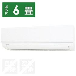 【標準工事費込!】東芝エアコン(冷房時6~9畳/暖房時5~6畳)「E-Mシリーズ」RAS-E221M-W