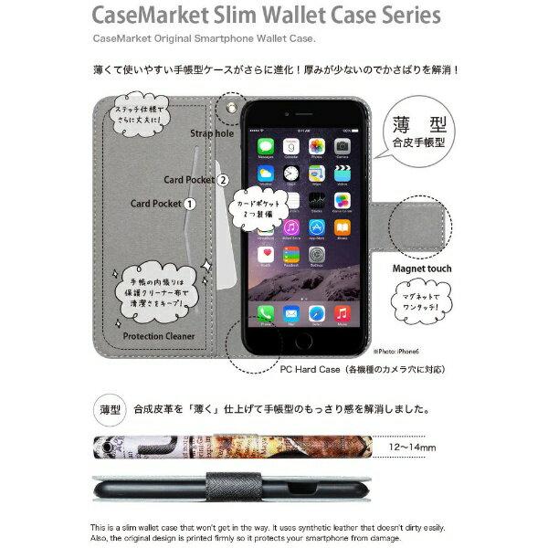 CaseMarket CaseMarket iPod-touch6 スリム手帳型ケース 和柄 ストライプ 紫 蝶 スリム ダイアリー iPod-touch6-BCM2S2229-78