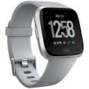 【送料無料】 FITBIT 【スマホエントリーでポイント10倍 8/15 23:59まで】Fitbit フィットビット スマートウォッチ Versa Gray/Silver Aluminium L/Sサイズ FB505SRGY-CJK グレー/シルバーアルミニウム