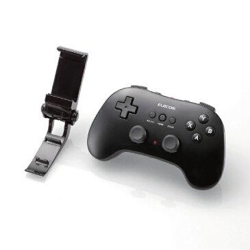 エレコム ELECOM スマホ用 Bluetoothゲームパッド 12ボタン ホルダー付[JCVRP01BK]