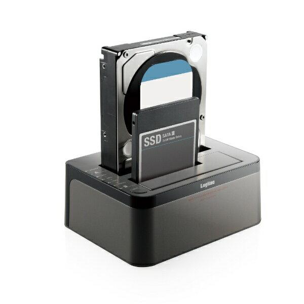 ロジテック Logitec ハードディスクスタンド 2.5/3.5インチ 2BAY[USB3.0/SATA・Mac/Win] エラースキップ搭載 2BAY Duplicator HDD/SSDスタンド LGB-2BDPU3ES ブラック [2台]画像