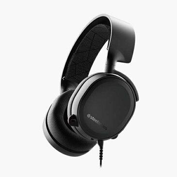STEELSERIES スティールシリーズ 61503 有線ゲーミングヘッドセット Arctis3 2019 Edition STEELSERIES(スティールシリーズ) ブラック [φ3.5mmミニプラグ /両耳 /ヘッドバンドタイプ][61503]