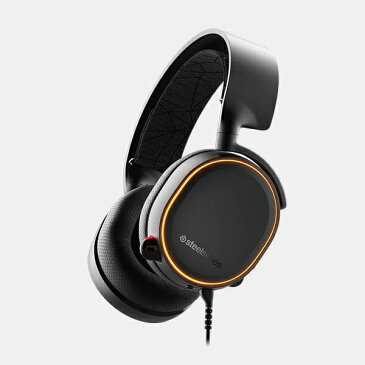 STEELSERIES スティールシリーズ 61504 有線ゲーミングヘッドセット Arctis 5 ブラック [φ3.5mmミニプラグ+USB /両耳 /ヘッドバンドタイプ][61504]