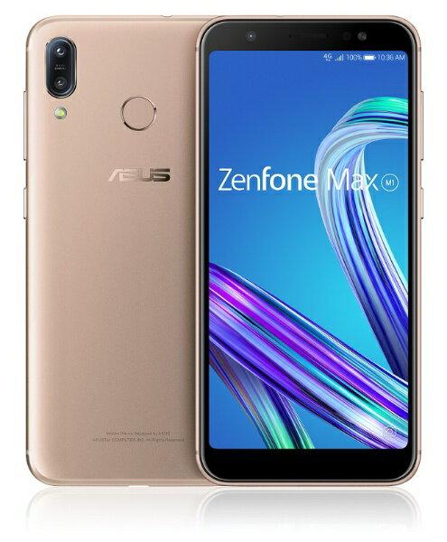 ASUS エイスース Zenfone Max M1 サンライトゴールド「ZB555KL-GD32S3」Snapdragon 430 5.5型メ...