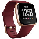 Fitbit フィットビット 【1000円OFFクーポン配布中!5/7 09:59まで】スマートウォッチ fitbit versa Ruby Band/Rose Gold Aluminum L/Sサイズ FB505RGRD-EU ルビー/ローズゴールドアルミニウム[FB505RGRDEU]