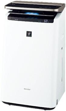 【送料無料】 シャープ SHARP KI-JP100-W 加湿空気清浄機 ホワイト系 [適用畳数:46畳 /最大適用畳数(加湿):26畳 /PM2.5対応]