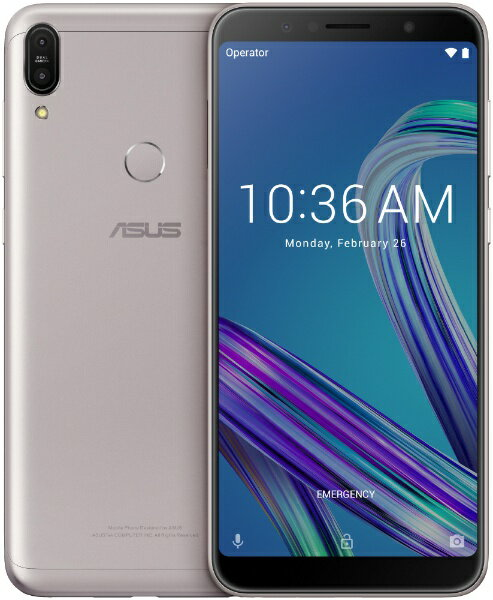ASUS エイスース Zenfone Max Pro M1 メテオシルバー「ZB602KL-SL32S3」Snapdragon 636 6型 メ...