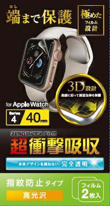 スマートフォン・携帯電話アクセサリー, 液晶保護フィルム  ELECOM Apple Watch Series 4 40mm BK-40FLAFPRGBK40FLAFPRGpoint rb