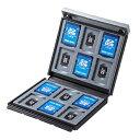 サンワサプライSANWASUPPLY SD・microSDカードケース(ブラック) FC-MMC4BKN