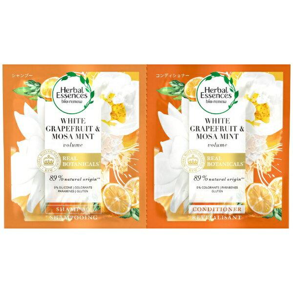 P&G ピーアンドジー Herbal Essences(ハーバルエッセンス)ビオリニューホワイトグレープフルーツ&ミントSP・CDサシェ