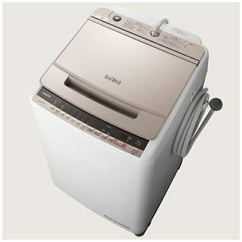 日立 HITACHI BW-V100E-N 全自動洗濯機 シャンパン [洗濯10.0kg /乾燥機能無 /上開き][ビートウォッシュ 洗濯機 10kg BWV100E]