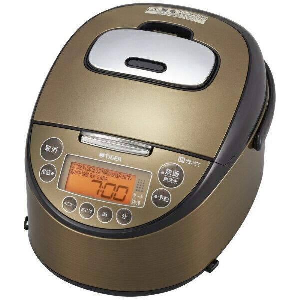 タイガー TIGER JKT-C100-TK 炊飯器 炊きたて ダークブラウン [5.5合 /IH][JKTC100]