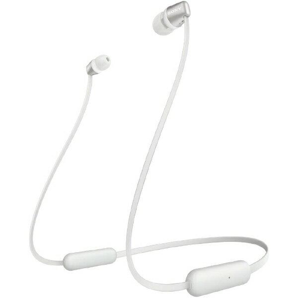ソニーSONYブルートゥースイヤホンホワイトWI-C310WC リモコン・マイク対応/ネックバンド/Bluetooth  ワイヤ