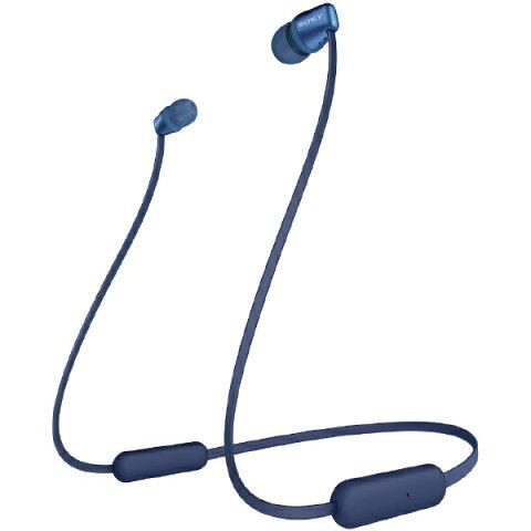 ソニー SONY ブルートゥースイヤホン ブルー WI-C310 LC [リモコン・マイク対応 /ネックバンド /Bluetooth][ワイヤレスイヤホン WIC310LC]