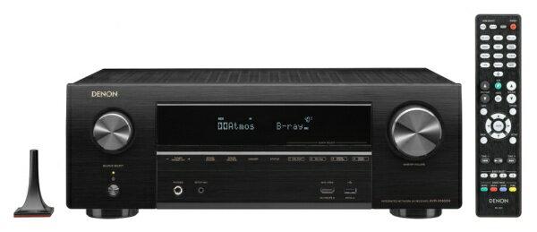 デノン Denon AVR-X1600HK AVアンプ DENON ブラック [ハイレゾ対応 /Bluetooth対応 /Wi-Fi対応 /ワイドFM対応 /7.1ch /DolbyAtmos対応][AVRX1600HK]