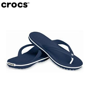 クロックス Crocs 27.0cm 男女兼用 サンダル Crocband Flip(M9/W11:Navy)11033