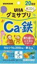 UHA味覚糖 グミサプリKIDS Ca・鉄20日分【poin