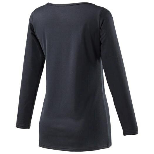 ミズノmizunoレディースアンダーウエアブレスサーモアンダーラウンドネック長袖シャツ(Lサイズ/ブラック)C2JA8810